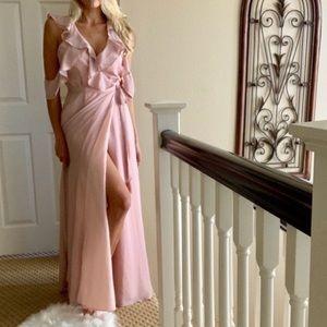 BB DAKOTA Pink Sexy Maxi Homecoming Bridal Dress 4